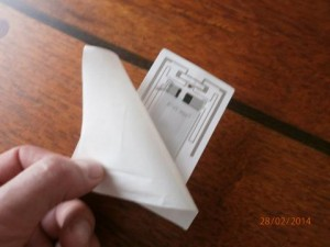 RFID temperatur tag bagside