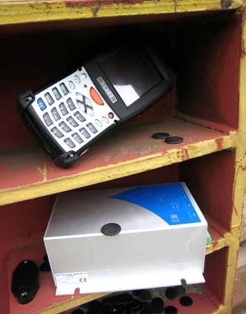 RFID til byggeri, RFID reader