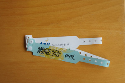 RFID wristband with print
