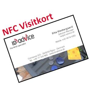 NFC visitkort app. Vcard med dine kontaktinformationer